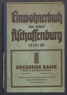 Adressbuch Aschaffenburg (Unterfranken) 1939