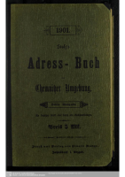 Adressbuch Chemnitzer Umgebung 1901