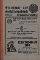Adressbuch Hof (Oberfranken) 1936
