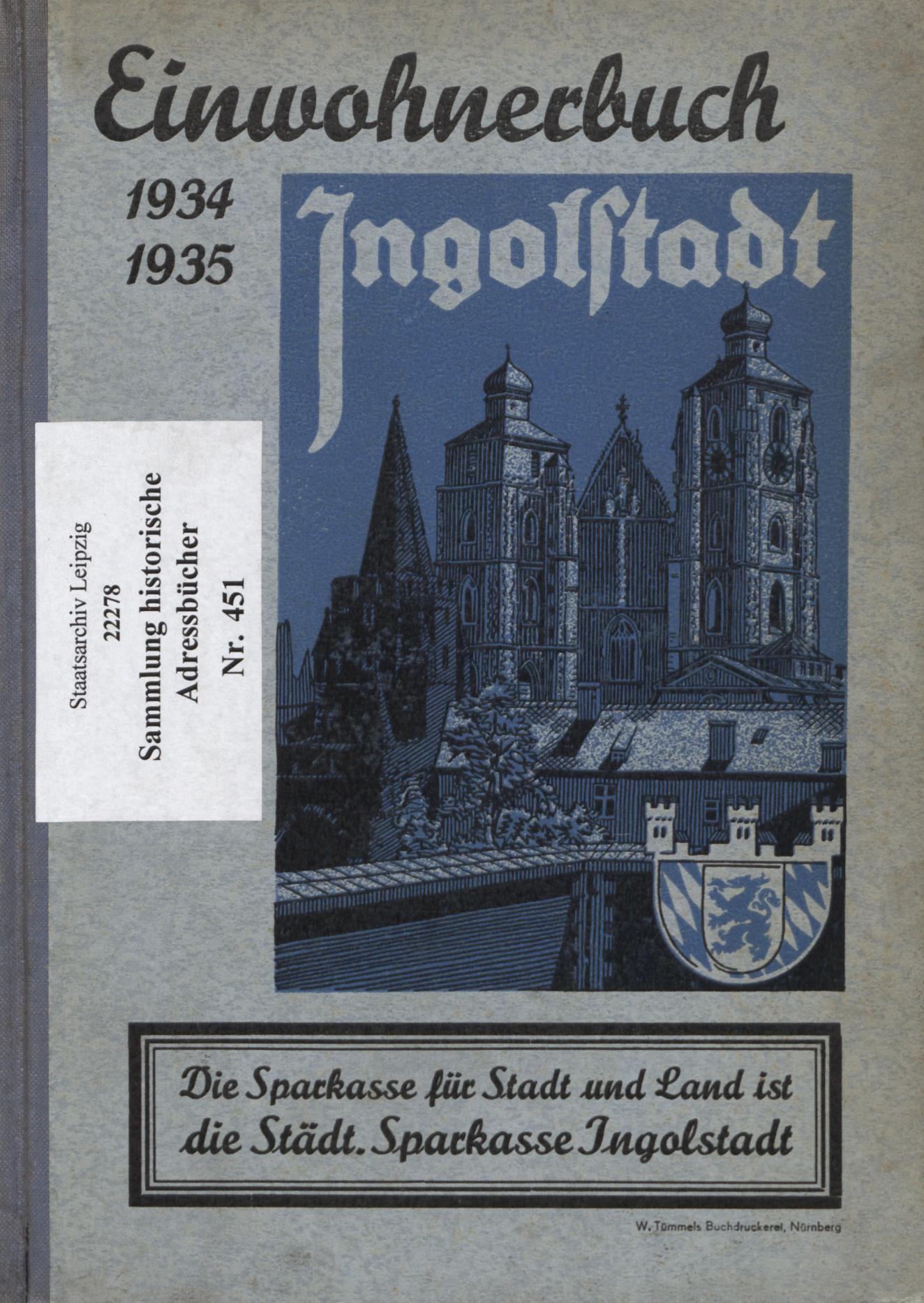 Adressbuch Ingolstadt 1934-35