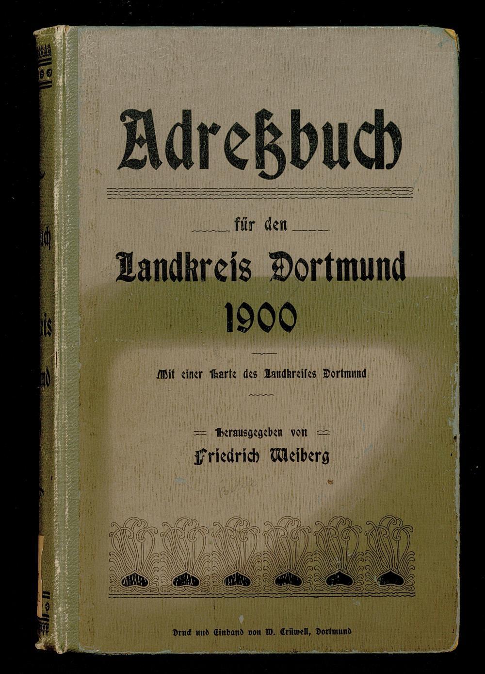 Adreßbuch für den Landkreis Dortmund 1900