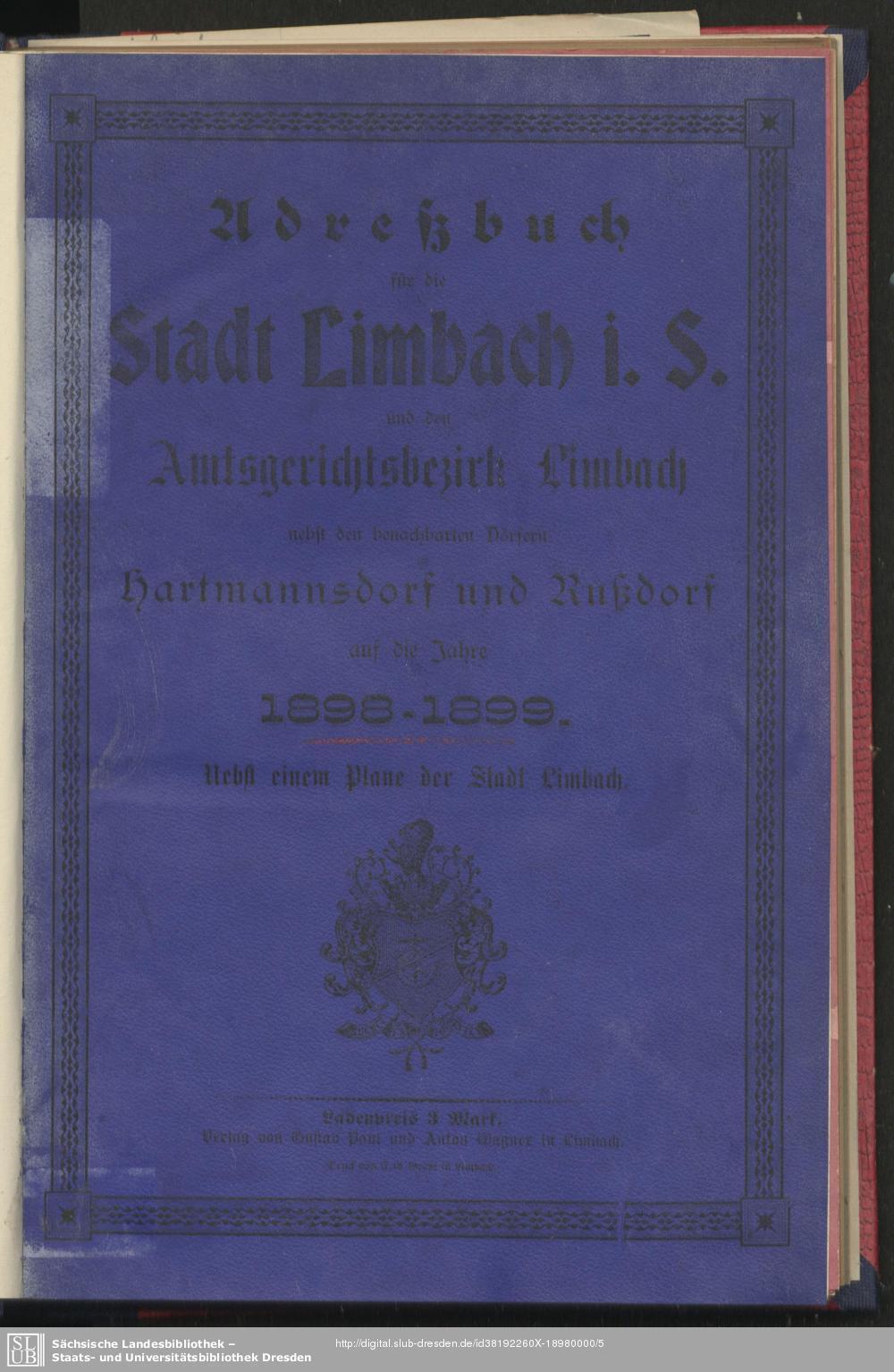 Adressbuch Limbach-Oberfrohna 1898/99