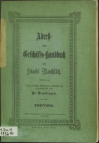Adressbuch Rochlitz (Sachsen) 1887