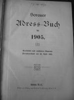Adressbuch Sorau 1905