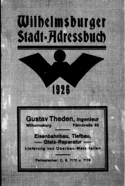 Adressbuch Wilhelmsburg (Hamburg) 1926