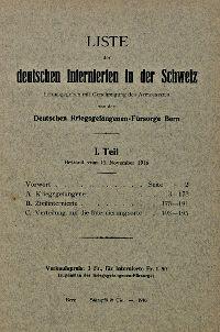 Liste der deutschen Internierten in der Schweiz 1916