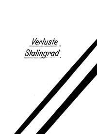 Verlustliste Stalingrad