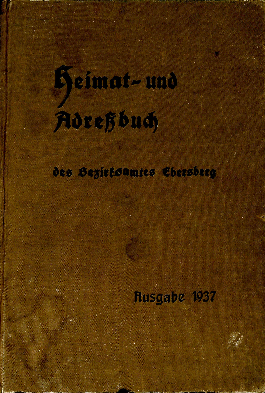 Adressbuch Ebersberg (Bezirksamt) 1937